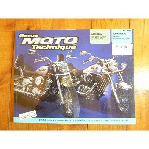 Revue moto technique kawasaki, n° 109 : VN 800, modèles de 1995 a 1998 / Yamaha XVS 650 drag star modèles de 1997 et 98