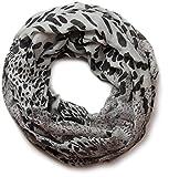styleBREAKER fular de tubo con estampado de leopardo 01017009, color:Gris