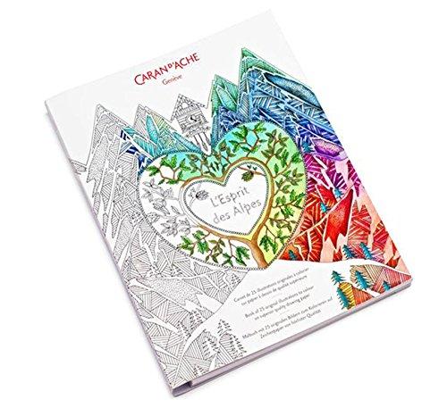Caran d' Ache-Edition 1, libro da colorare Esprit des Alpes, 210x 297mm, 240g