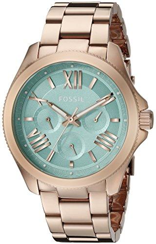 Fossil Damen Analog Quarz Uhr mit Edelstahl Armband AM4540