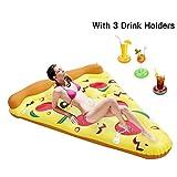 Twister.CK Flotador Inflable de la Piscina, balsa Gigante de la Piscina de la Rebanada de la Pizza, Amortiguador de Aire del PVC del Flotador para los Deportes acuáticos de la Playa