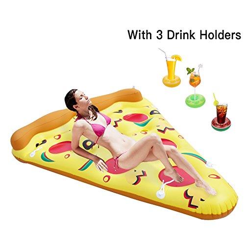 Twister.CK Galleggiante gonfiabile della piscina, zattera gigante della piscina della fetta della pizza, cuscino dell\'aria del galleggiante del PVC per gli sport acquatici della spiaggia