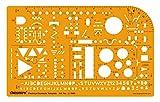 Linograph Elektrische Symbole Skizzieren Design & Layout Vorlage Schablone