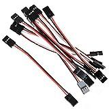 WINOMO 10cm 3-polig Stecker RC Servo-Verlängerungskabel-Wire Kabel (Packung mit 10)