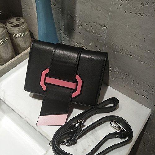 quadratische wölbung zunge paket kleine quadratische paket kampf farbe Schulter messenger Schwarz