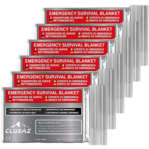 CLUSAZ Manta Emergencia Plata XL 210x160cm Paquete