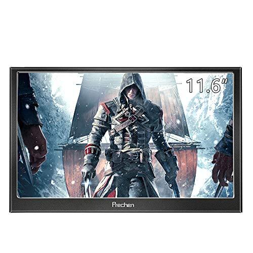 Prechen 11,6 Zoll 1920x1080 (Unterstützung 1080p) Tragbarer Monitor IPS LCD/LED Display HDMI Häfen für PS3 PS4 Xbox360 Raspberry Pi 3 2 1 Windows 7 8 10 Home Office(Schwarz) -