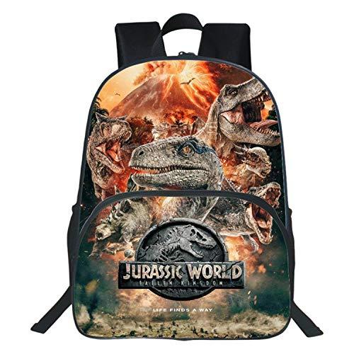 Nueva impresión en 3D Jurassic Park Mochilas Escolares primarias Dinosaurio Mochila para niños Mochila...
