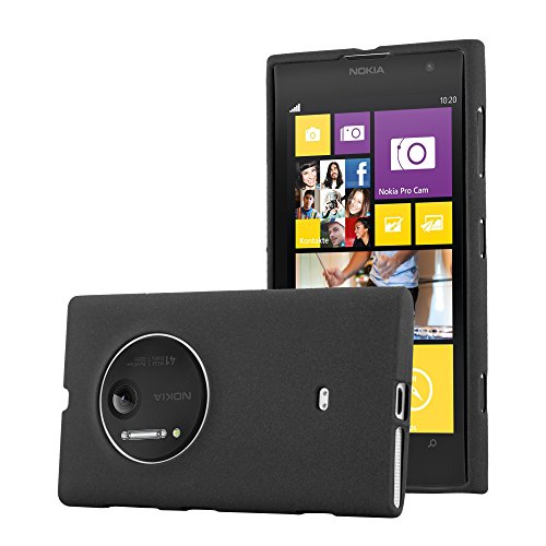 Preisvergleich Produktbild Cadorabo Hülle für Nokia Lumia 1020 - Hülle in Frost SCHWARZ – Handyhülle aus TPU Silikon im matten Frosted Design - Silikonhülle Schutzhülle Ultra Slim Soft Back Cover Case Bumper