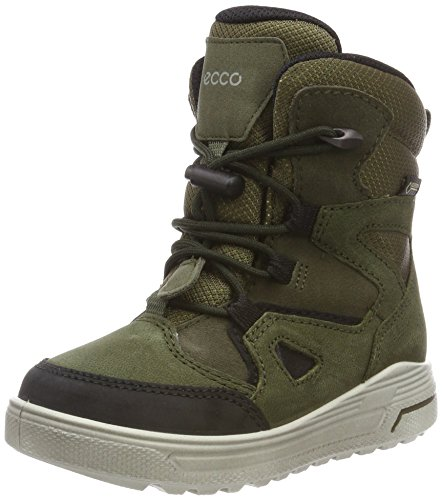 ECCO Unisex-Kinder URBAN Snowboarder Schneestiefel, Grün (Black/Grape Leaf 59637), 28 EU