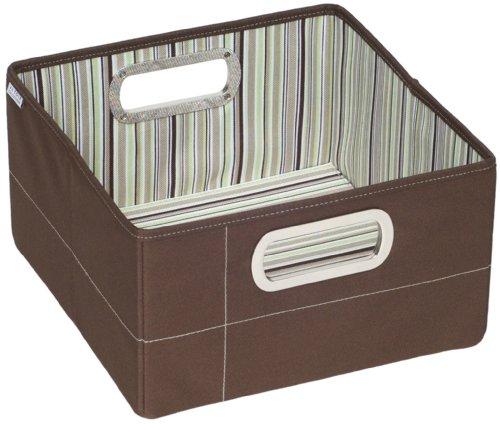 """JJ Cole JJ Cole Collections Storage Box, Cocoa Stripe, 6.5"""""""