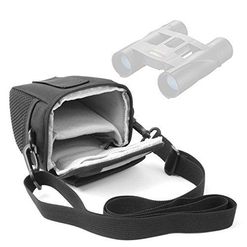 DURAGADGET Funda para Prismáticos Nikon Sportstar EX 10x25DCF, Aculon T01 8x21, Sportstar EX 8x25 DCF | con Asa De Hombro Ajustable - Ideal para Viajes/Excursiones
