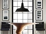 SBWYLT-Luminaires industriels de café rétro, vêtements, magasin de bar et restaurant usine entrepôt d'aluminium fer forgé pot lustre , black...