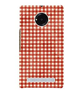 Red Checks Pattern 3D Hard Polycarbonate Designer Back Case Cover for YU Yureka Plus