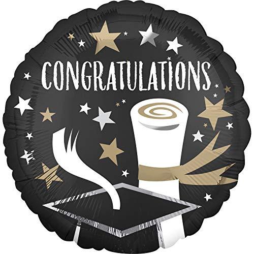 amscan 3935001 - Globo de plástico con Mensaje Congratulations Grad