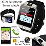 Captcha Bluetooth Smart Watch Phone With Camera, TF Card and Sim Card Support with all Smartphones (Silver)
