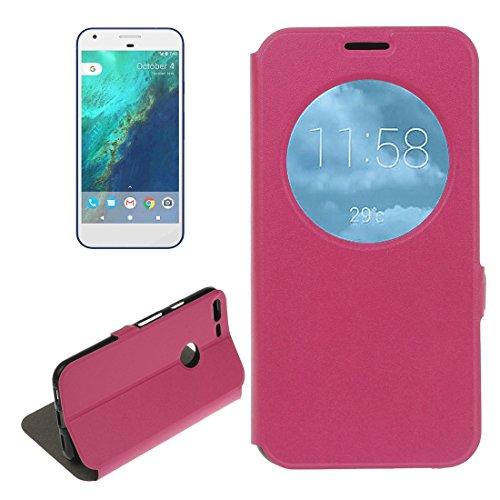 google pixel xl ledertasche & halter, Fone-Stuff® - anzeige für anrufer-id, business style, horizontaler flip, halter für handy, schutzhülle in pink (mit displayschutzfolie) (E Anrufer Amp)