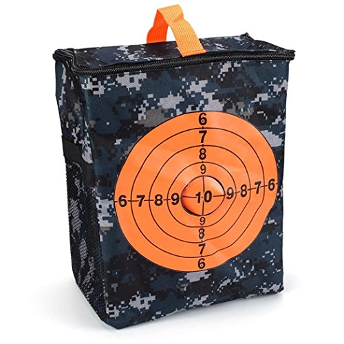 Pochette Bescita avec cible - Transport d'équipement - Pour Nerf N-strike Elite, Noir