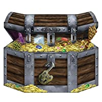 Peeks 86cm Stand Up Pirate Treasure Chest Childrens Kids Party Room Decoration