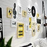 Fotorahmen Kollage Foto Wand Wohnzimmer Massivholz Kontinentales Restaurant Foto Rahmen Wände Kreative Kombination Schlafzimmer Modern Einfache Kinder Foto Wand ( Color : 1# )