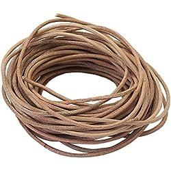 9m x 12mm Color Natural de Línea Cuero Cordón Cuerda Marrón para Collar Pulsera Brazalete Abalorios Bisutería Joyería Bricolaje