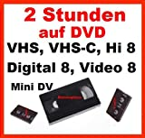 Produkt-Bild: 2 Stunden VHS,VHS-C,Digital 8,Hi8, MiniDv,Digitalisieren auf DVD