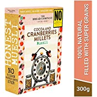 The Bread Company Cocoa & Cranberries Millets Muesli | No Chemicals Preservatives Process Sugar | No Added Sugar- 300gm