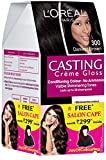 #9: L'Oreal Paris Casting Creme Gloss Hair Color, 3 Darkest Brown, 159.5g with Free Salon Cape (Worth Rupees 299)