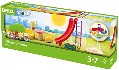 BRIO World 33955 - Village Erweiterungspack Möbel