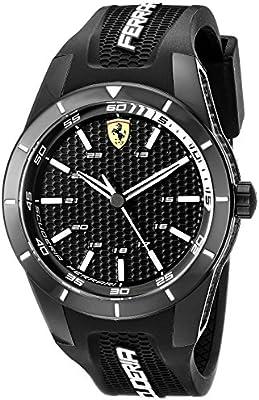 Ferrari Hombre 0830249redrev analógico negro reloj de cuarzo japonés
