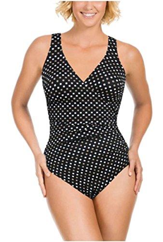 Kirkland Signature Miraclesuit Damen Badeanzug 1Stück Slimming (Spot On Wrap, 8) (Miraclesuit Wrap Badeanzug)