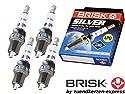 Brisk Power-Silver DR17YS 1351Zündkerzen Benzin LPG CNG Autogas, 4-teilig