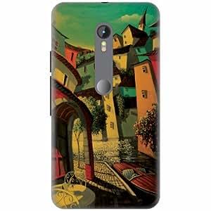 PrintlandDesignerHard Plastic Back Cover for Motorola Moto G Turbo -Multicolor