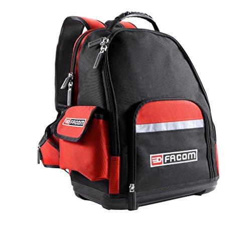 Facom BS.L30 Mochila de tela, Negro y rojo