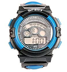 Surya Sporty Look Digital Black Dial watch for Kids in Blue color -SS02