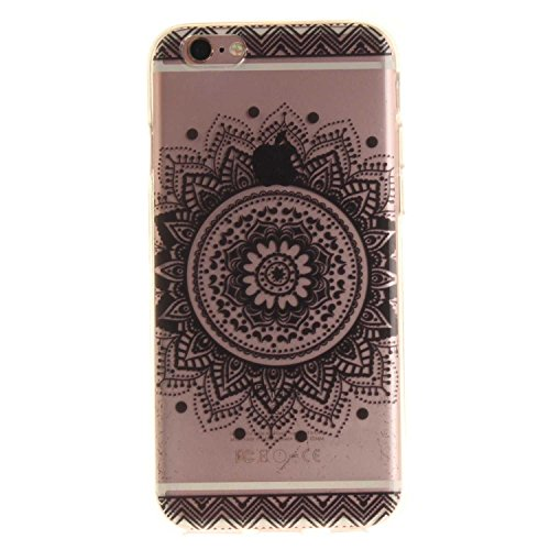 Guran® TPU Silikon Hülle für Apple iPhone 6 6S (4,7 Zoll) Smartphone Gemalt Schutzhülle Cover-Kirschbaum color a65