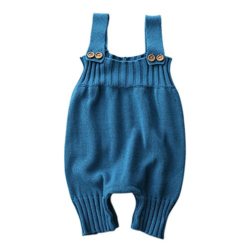 Minuya Frühling Herbst Hosen Baby Mädchen Trägerhose Kinder Solide Hosenträger Hosen Kinder Kleidung (Kleidung Vivid Blau)