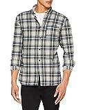 JACK & JONES Herren Freizeithemd JORCHRIS Shirt LS ONE Pocket, Mehrfarbig (Forest Night Fit:Slim/Check), X-Large