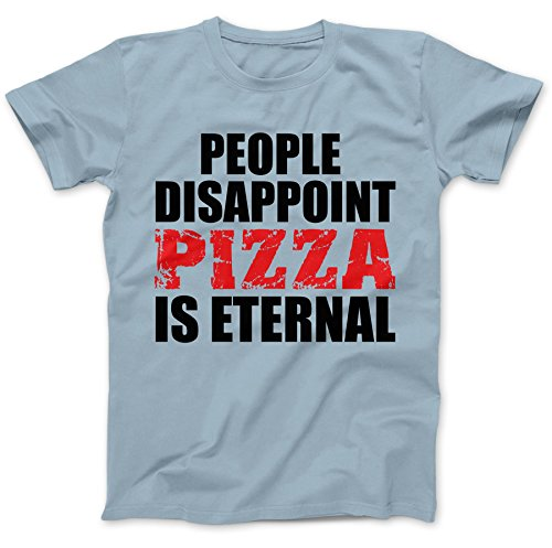 Pizza Is Eternal T-Shirt 100% Baumwolle Hellblau