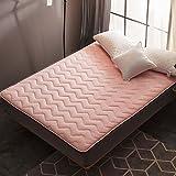 YCTTMM Coral Fleece Tatami Matratze,Japanischen futon-Matratze Thai-Massage Bett-B 180x200cm(71x79inch)