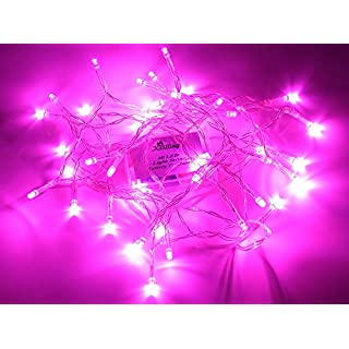 Karlling Battery Operated Pink 40 LED Fairy Light String Wedding Party Xmas Decorations(Pink)