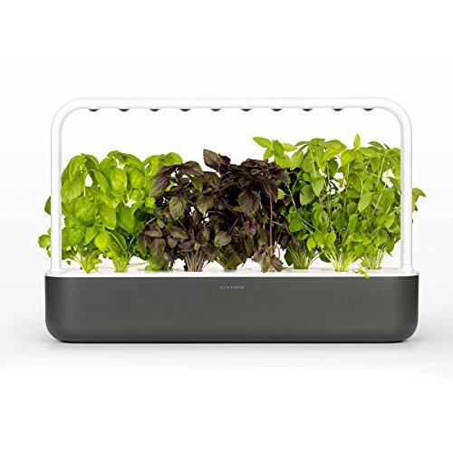 Click & Grow Smart Garden 9 Jardinière d'Intérieur, Gris Anthracite, 60.50 x 18.5 x 40 cm