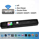 iSCAN Handheld USB Wifi Mobile Portable Document & Image Scanner,1050DPI, High Speed, with Micro SD Card Reader, Handheld Portable, Rechargeable Battery. (Wifi))
