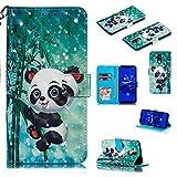 Nadoli Wallet Handyhülle für Huawei Mate 20 Lite,Kreative 3D Karton Panda Muster Taljereep Ständer Flip Ledertasche Brieftasche Schutzhülle Etui für Huawei Mate 20 Lite