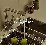 AllureFeng Acabado cromo de filtro de ósmosis inversa Triflow agua del grifo Tres maneras de mezclador del fregadero de 3 vías grifo de la cocina