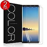 G-Color Galaxy Note 8 Schutzfolie [2 Stück], Note 8 Displayschutzfolie [mit Hülle] Folie [Blasenfreie] [Nicht Panzerglas] [Keine angehobenen Kanten] Wet Applied für Samsung Galaxy Note8.(Klar)