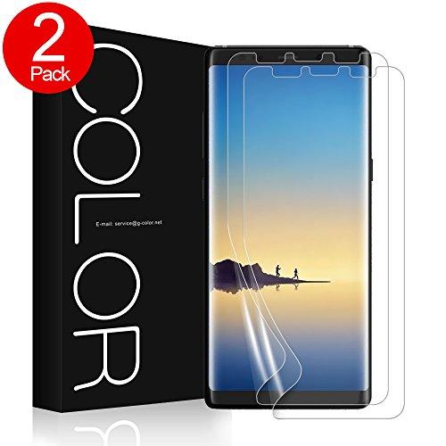G-Color Galaxy Note 8 Schutzfolie [2 Stück], Note 8 Bildschirmschutzfolie [mit Hülle] Folie [Blasenfreie] [Nicht Panzerglas] [Keine angehobenen Kanten] Wet Applied für Samsung Galaxy Note8.(Klar)