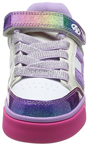 Heelys Bolt Plus 770569, Baskets fille Multicolore (White/Rainbow/Pink)
