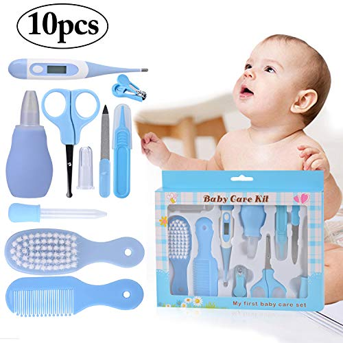 Nursery Care kit, Kapmore 10 Pcs Baby Grooming Kit Infant Care Kit Healthcare Nursery Essential Baby Manicure Set