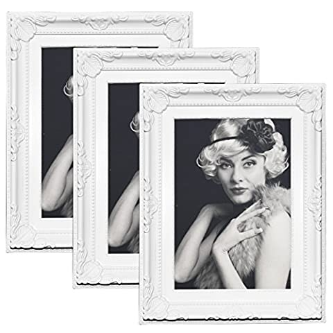 3er Packung Woltu Bilderrahmen 13x18cm Bild Rahmen Foto Galerie Bilder Collage Plastik Barock